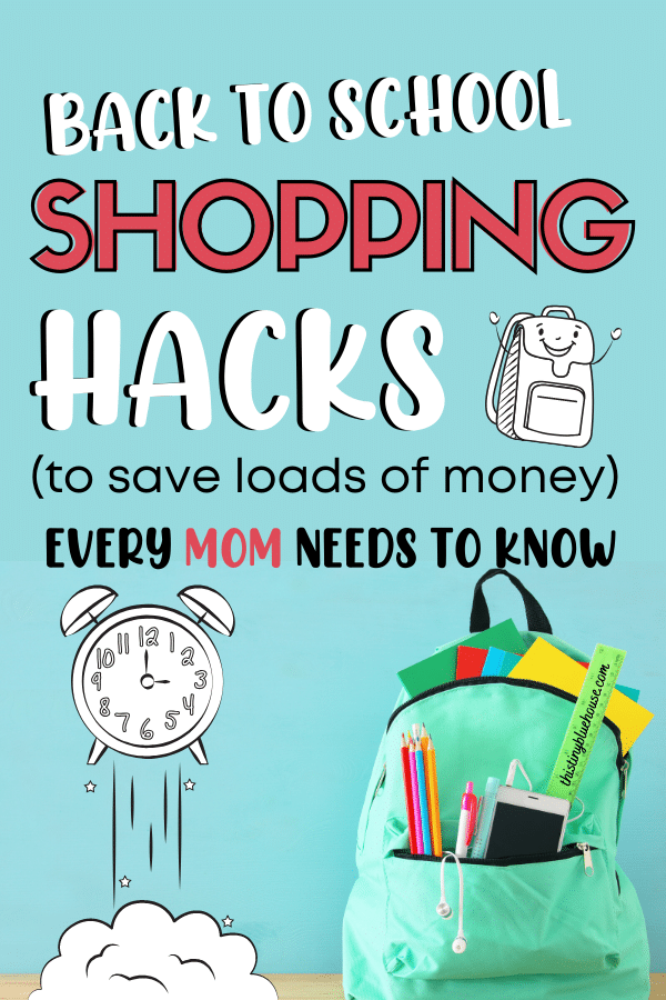 Here are 10+ clever and easy ways to save money on back to school shopping. From clothes to school supplies this post will help you save heap of cash!