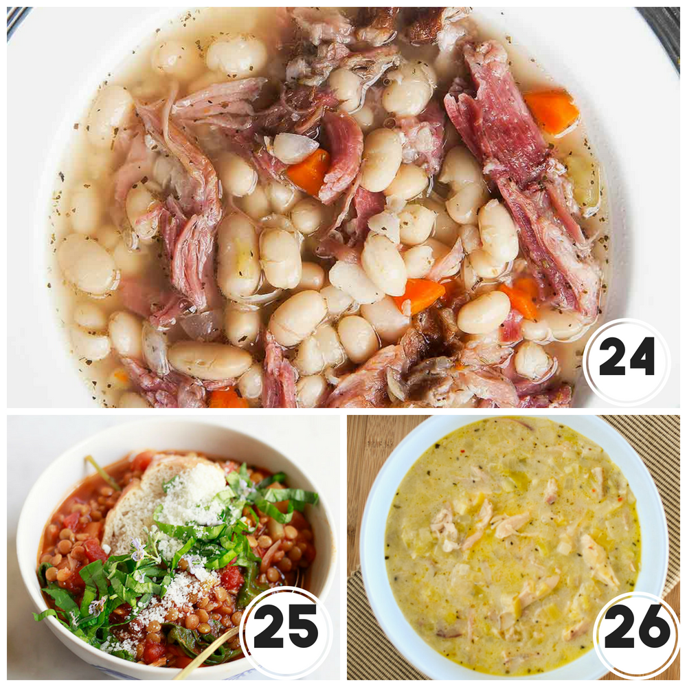 42 Comforting Soups that are perfect for fall. Batch cook these soups and have healthy, delicious and comforting soups available to you all fall and winter long #soup #souprecipes #fallsoups #autumnsoups #wintersoups #comfortfood #comfortingfood #easydinners #easysuppers #easysouprecipes