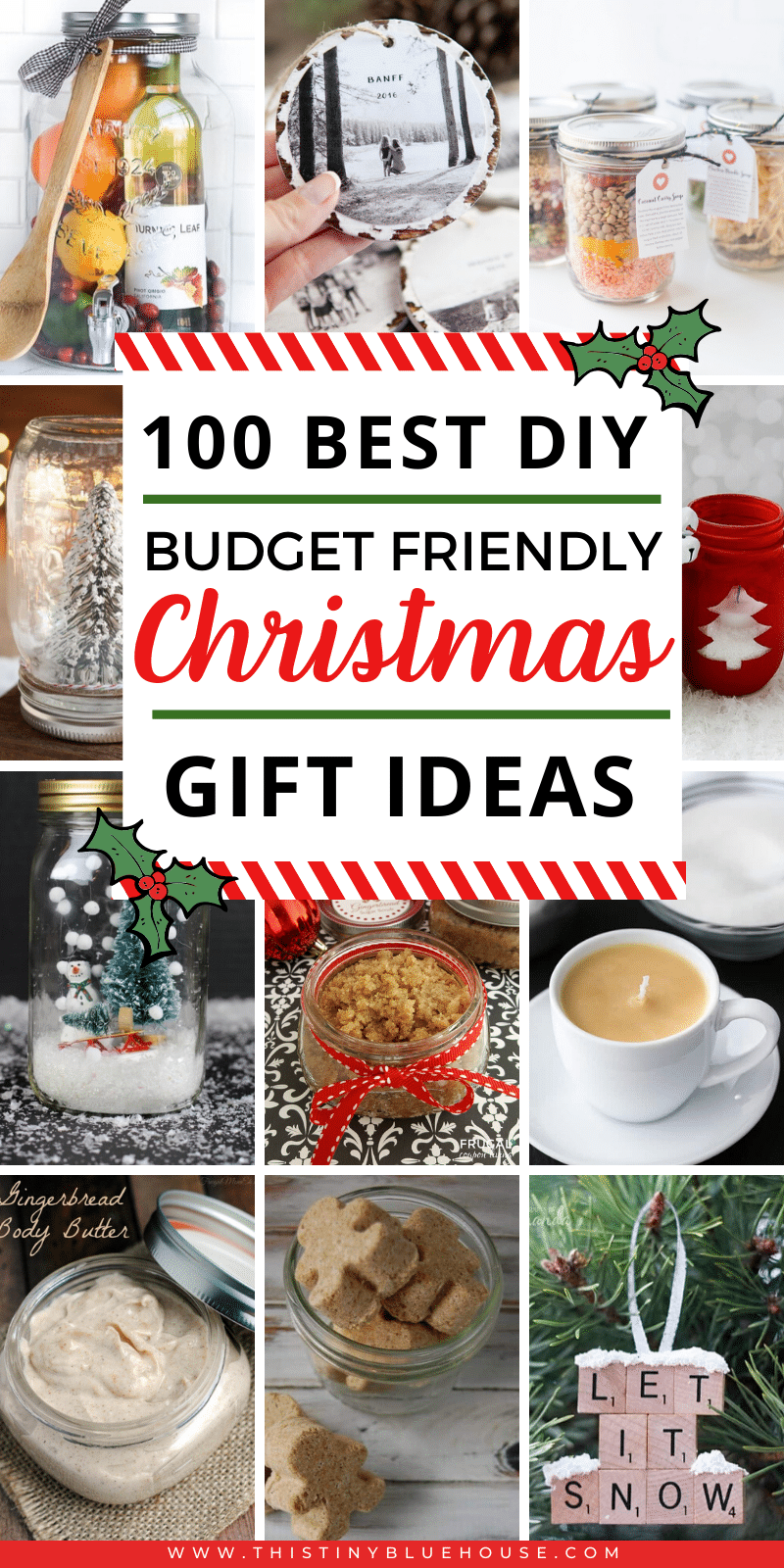 The Christmas season is quickly approaching folks and DIY Budget Friendly Christmas gifts are an incredible way to lower costs around the holidays if you're trying to stick to a budget. Here are over 100 brilliant DIY gifts you can make! #diychristmasgifts #diychristmasgiftsforfamily #diychristmasgiftsforfriends #diychristmasgiftsformen #diychristmasgiftsforkids #diychristmasgiftsformom #diychristmasgiftsinajar