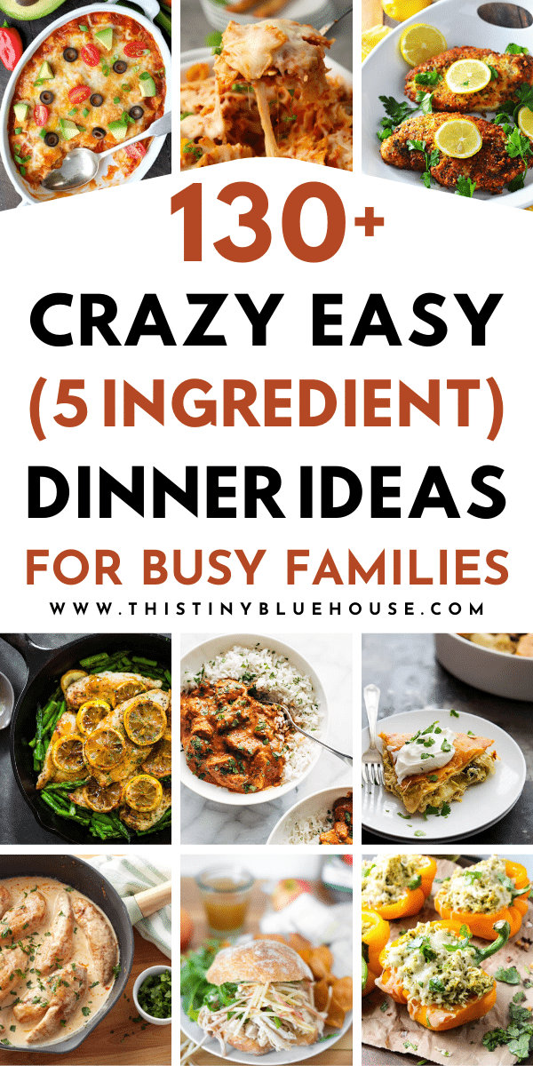 Make dinner a breeze with these beyond delicious and cheap supper ideas! Here are 135 delicious Quick & Easy 5-Ingredient suppers that are kid approved!
