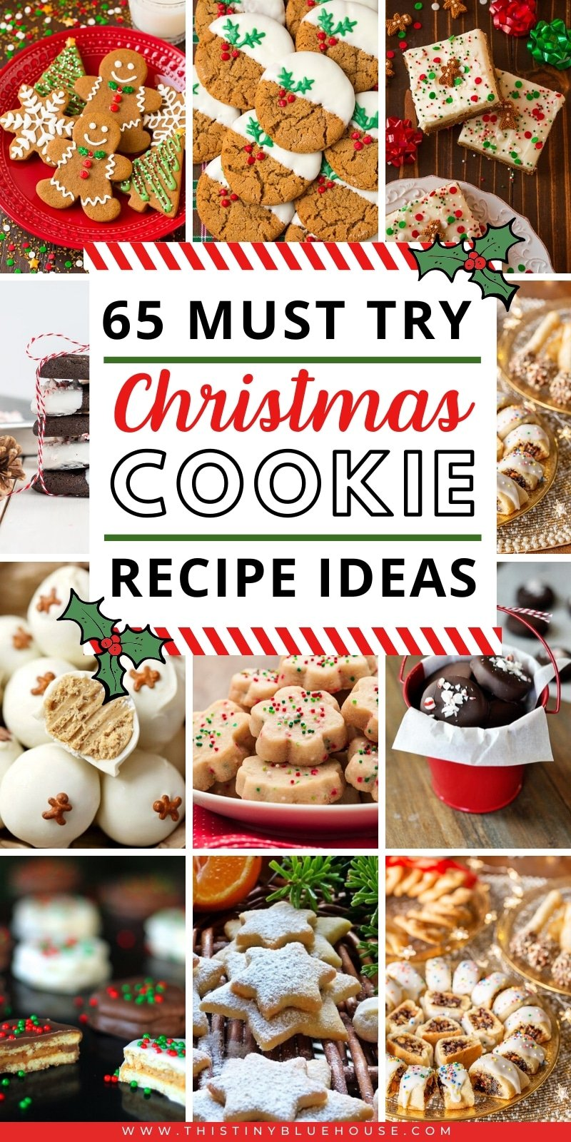65 best delicious holiday cookie recipes - Delicious, easy and wonderful cookie recipes to serve during the holiday season. GIft them or eat them these delicious treats will be loved by all. #christmas #christmascookies #cookies #holidaycookies #cookierecipes