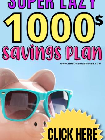 Super Easy Lazy $1000 Savings Plan