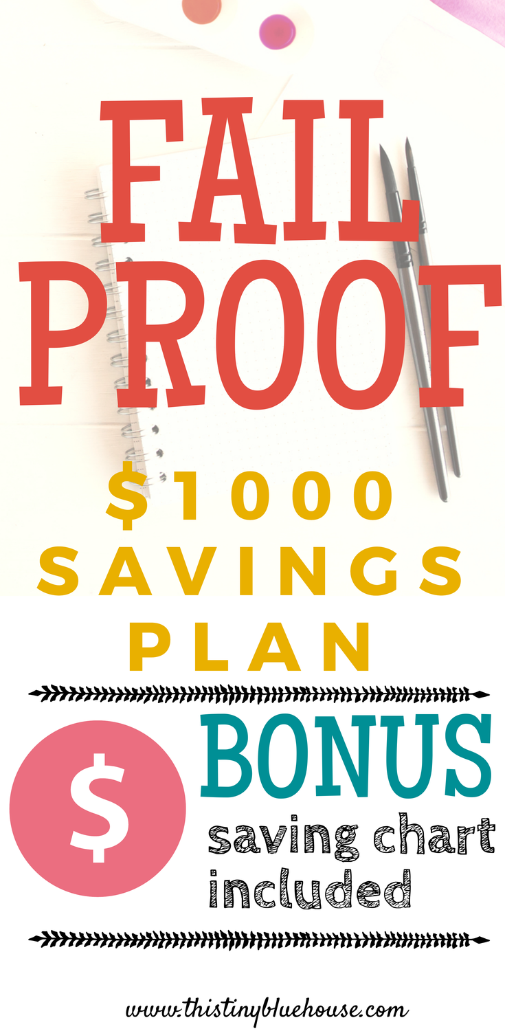 Painless $1000 Savings Plan Chart = Save $1000 this year with this easy, flexible and painless savings chart that can easily be modified for any budget. #savingmoney #savingmoneytips #savingmoneyideas #savingsplan #savingforahouse #savingmoneychallenge #savingmoneyforteens #savingmoneyforfamilies #savingmoneyformillenials #savingmoneyforcollegestudents #savingsplanprintable #savingsplanmonthly #savingsplanweekly #savingsplanbiweekly #savingschart #savingschallenge52weeks #moneysavingtips #moneysavingideas #moneysavingchart #moneysavingchartprintables #emergencyfund #emergencyfundideas #emergencyfundsavingsplan
