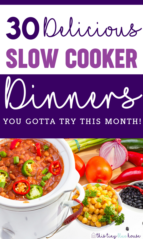 30 Deliciously Cheap Crock Pot Meals you gotta try this month #food #slowcooker #crockpot #dinner #familydinners #healthydinners #easymeals #mealplanning #recipes #mealprep