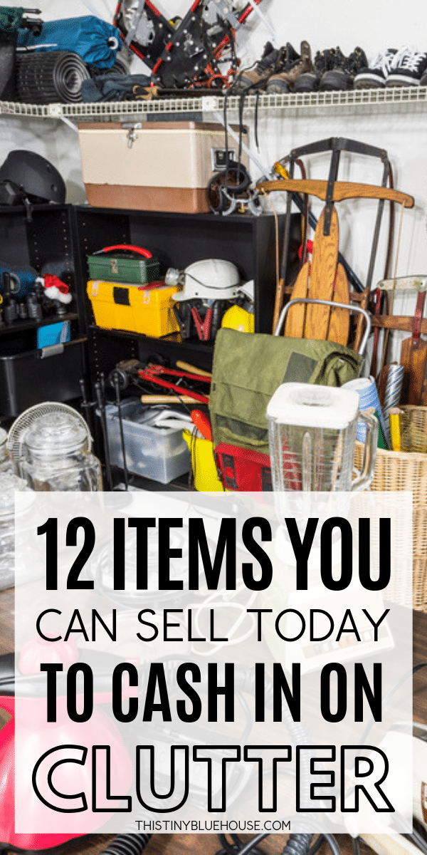 looking to declutter your home? Here are 12 categories of items that you can easily sell to make money and simplify your living space. #homeorganization #waystomakemoney #waystomakemoneyathome #fastwaystomakemoney