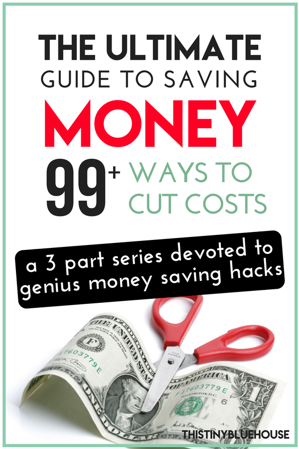 The EPIC List Of Ways to Save More Money. This 3 part series explores 90+ proven ways to save more cash every month. #moneysavintips #moneysavingideas #moneysavinghacks #howtosavemoney #howtosavemoneyideas #moneysavingideasforbeginners #savingmoneyforahouse