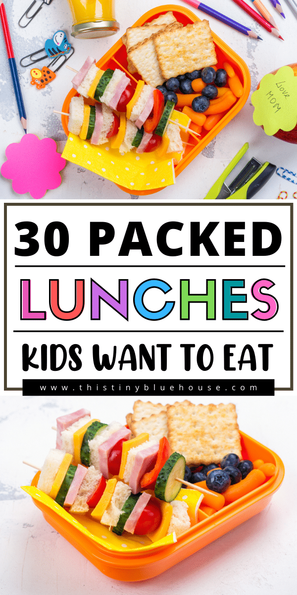 Here are 30+ delicious easy back to school lunch ideas that are easy, delicious and above all kid approved! These are packed lunches kids actually want to eat!