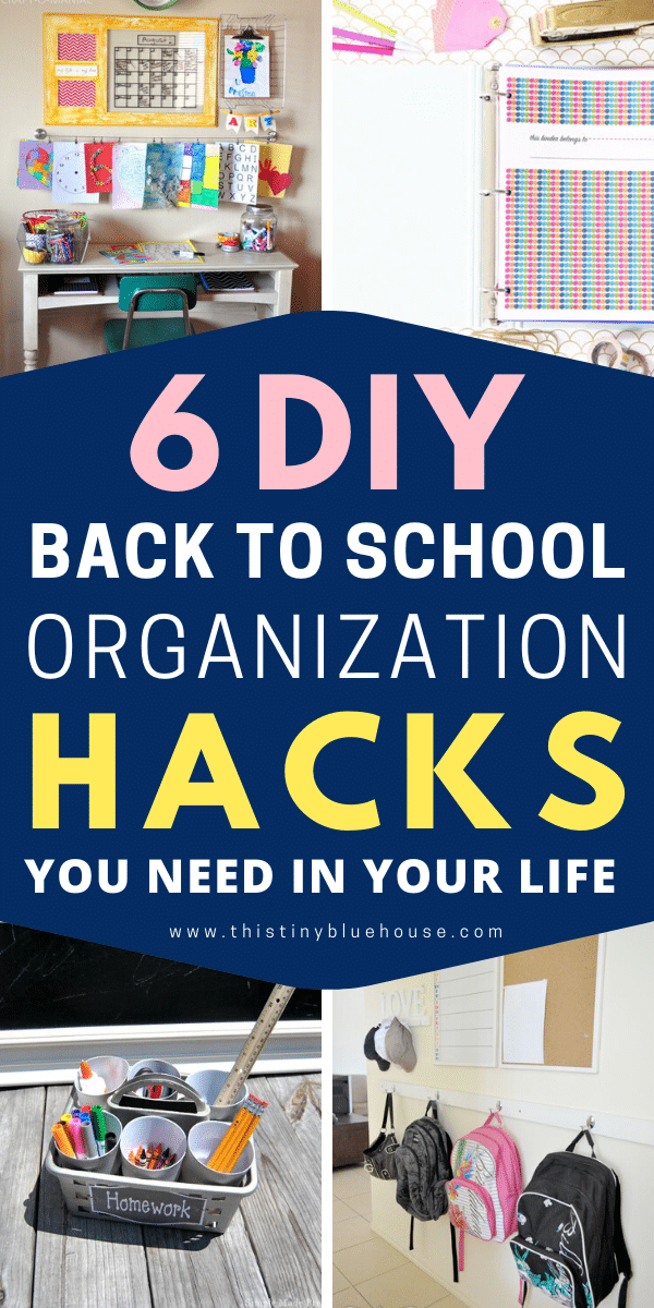 Get organized for school with these epic organization hacks you gotta try this school year. From workspaces to pencil caddy's these DIYs are super efficient for those who want to get and stay organized.