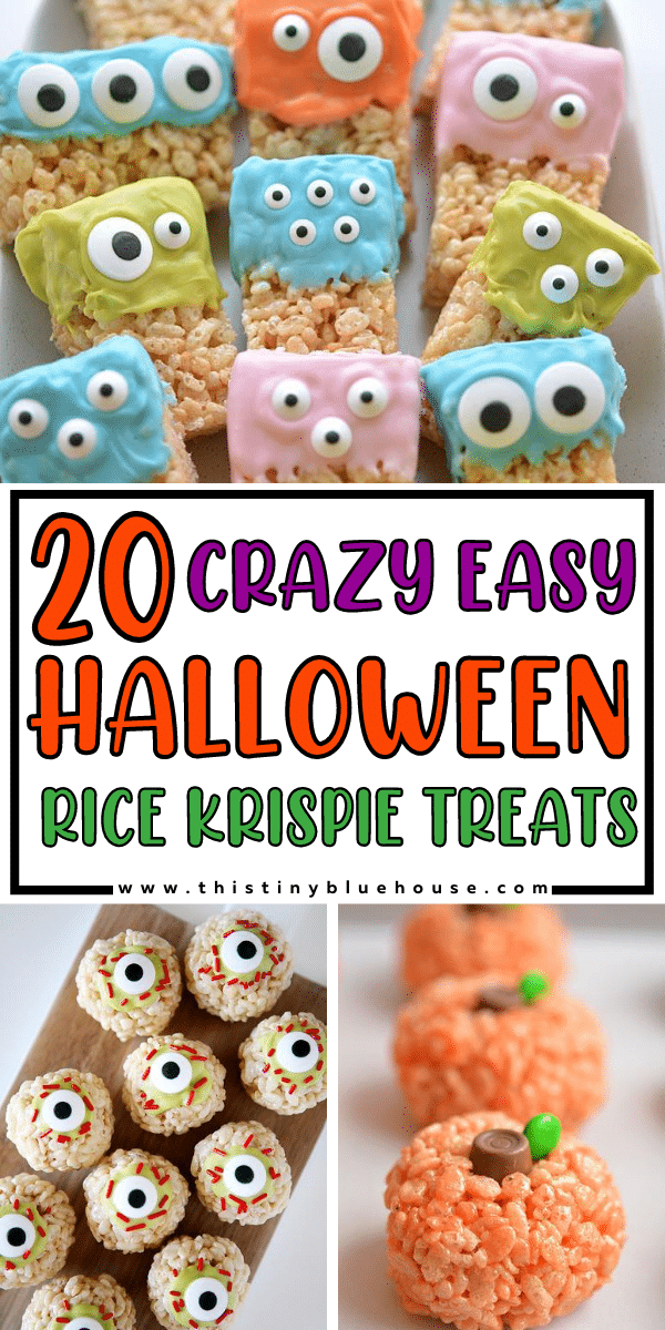 20 Crazy easy Halloween Rice Krispie Treats
