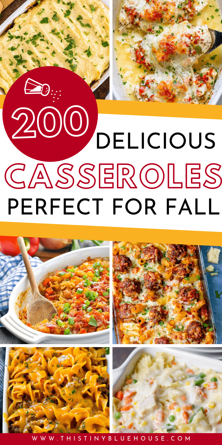 Here is the ultimate collection of easy and cheap casserole recipes that are perfect for easy fall and winter dinner. Divided by protein this massive collection of delicious casserole's is guaranteed to make dinners a breeze on busy weeknights this fall and winter. #easydinners #casserolerecipes #easycasserolerecipes #easydinnerideas #easydinnerideasforfamilies #easysuppers #simplecasserolerecipes