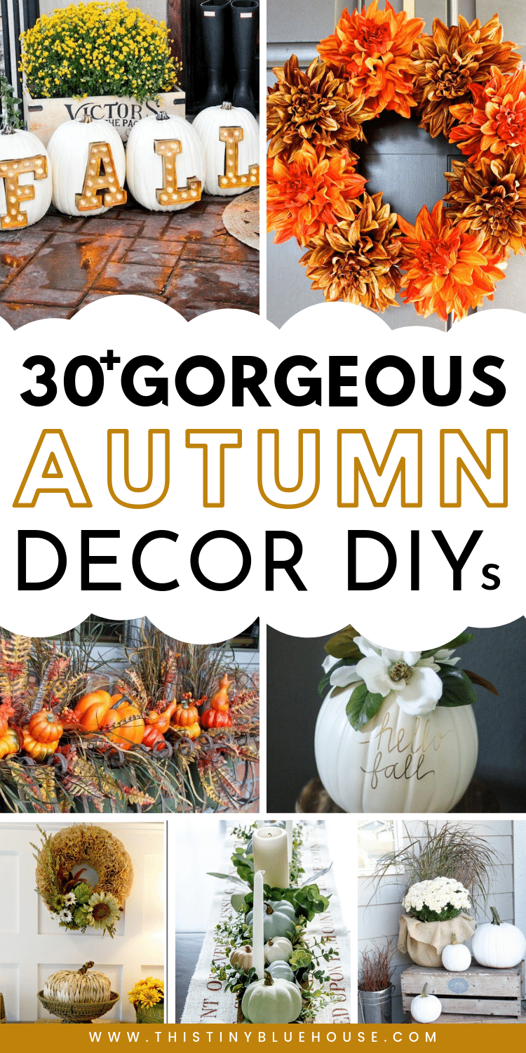 35 Stunning Dollar Store Diy Fall Decor Ideas This Tiny Blue House