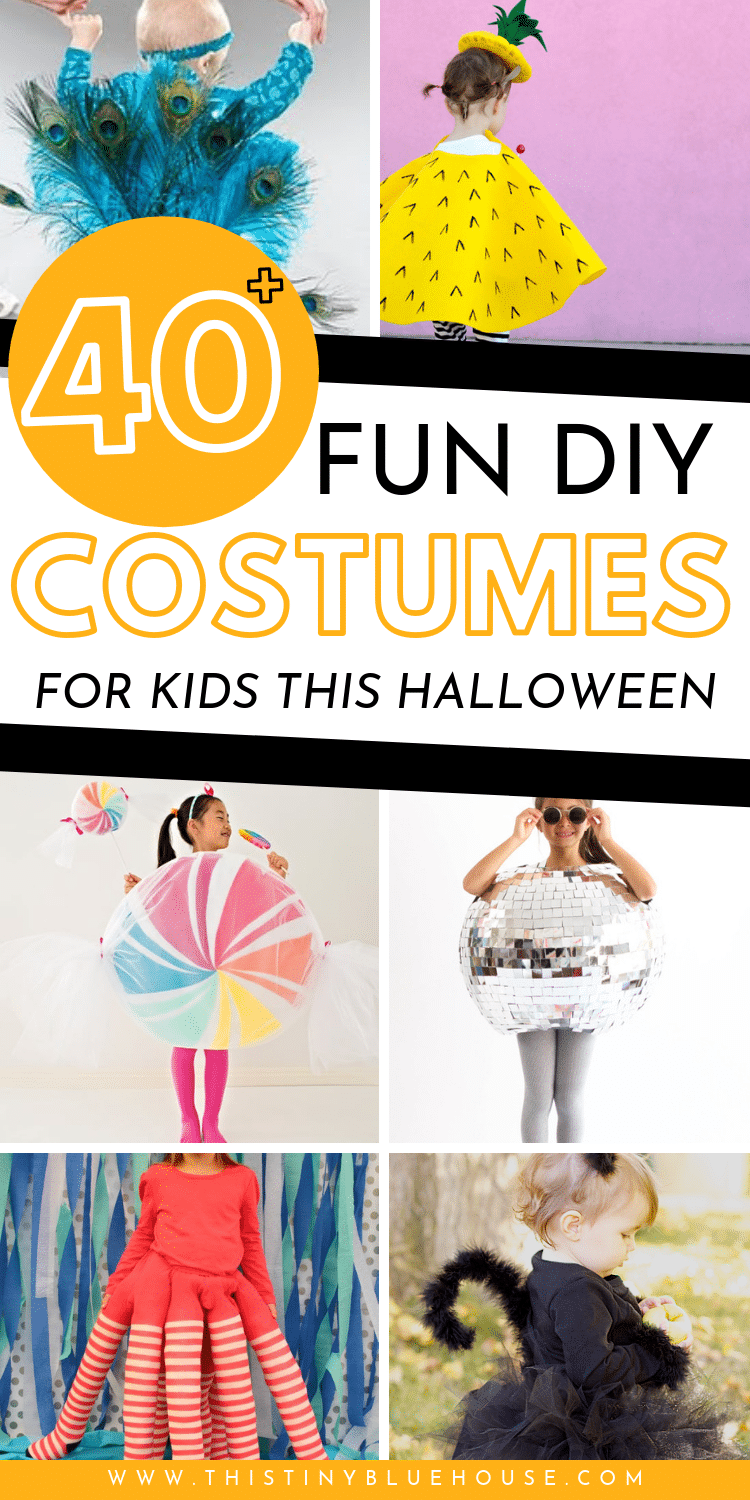 here are more than 40 of the best DIY Halloween costumes for kids. From garden gnomes to mermaids this post has got something for everyone! So, don't dish on an expensive store bought costume! Here is a collection of over 40 of the cutest and easiest DIY halloween costumes for kids. #DIYHalloweenCostume #DIYHalloweenCostumeForKids #DIYHalloweenCostumeEasy #DIYHalloweenCostumesForBabies #DIYHalloweenCostumesCute #DIYHalloweenCostumesLastMinute