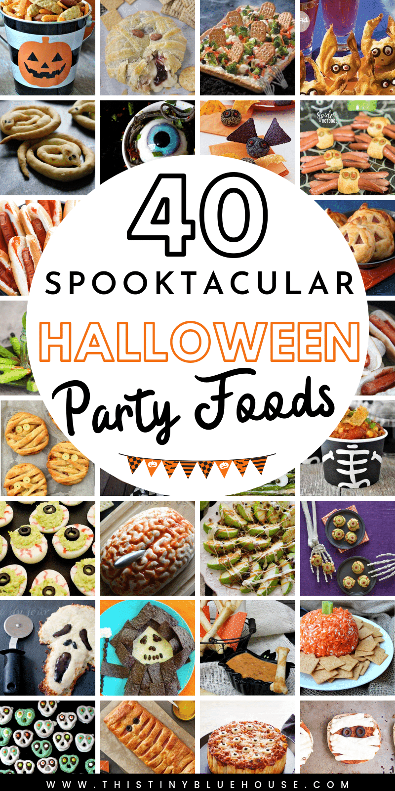Here are over 40 best Halloween party finger foods and appetizer ideas. If you are hosting a Halloween party or are looking for a few spooky dishes to make Halloween extra special these recipes are a must try. #halloweenfoods #halloweenfoodideas #halloweenfingerfoods #halloweenfoodsforpotluck #halloweenfingerfoodideasforkids #easyhalloweenfoodideas #halloweenappetizers
