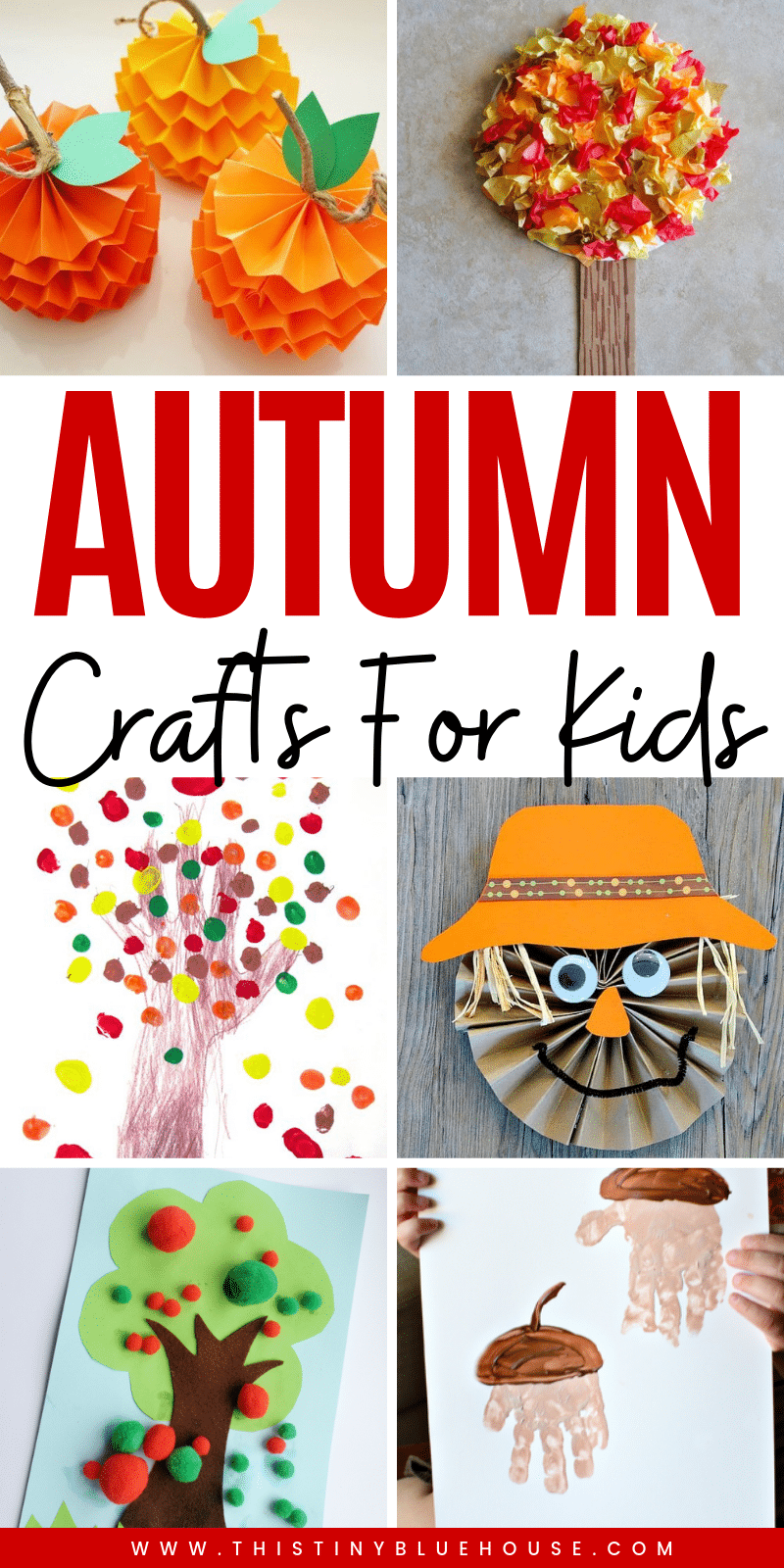 35+ Crazy Easy Fall Inspired Crafts For Kids! Get creative with these adorable and super easy fall inspired crafts for kids! #fallcrafts #fallcraftsforkids #fallcraftsfortoddlers #fallcraftsforpreschoolers