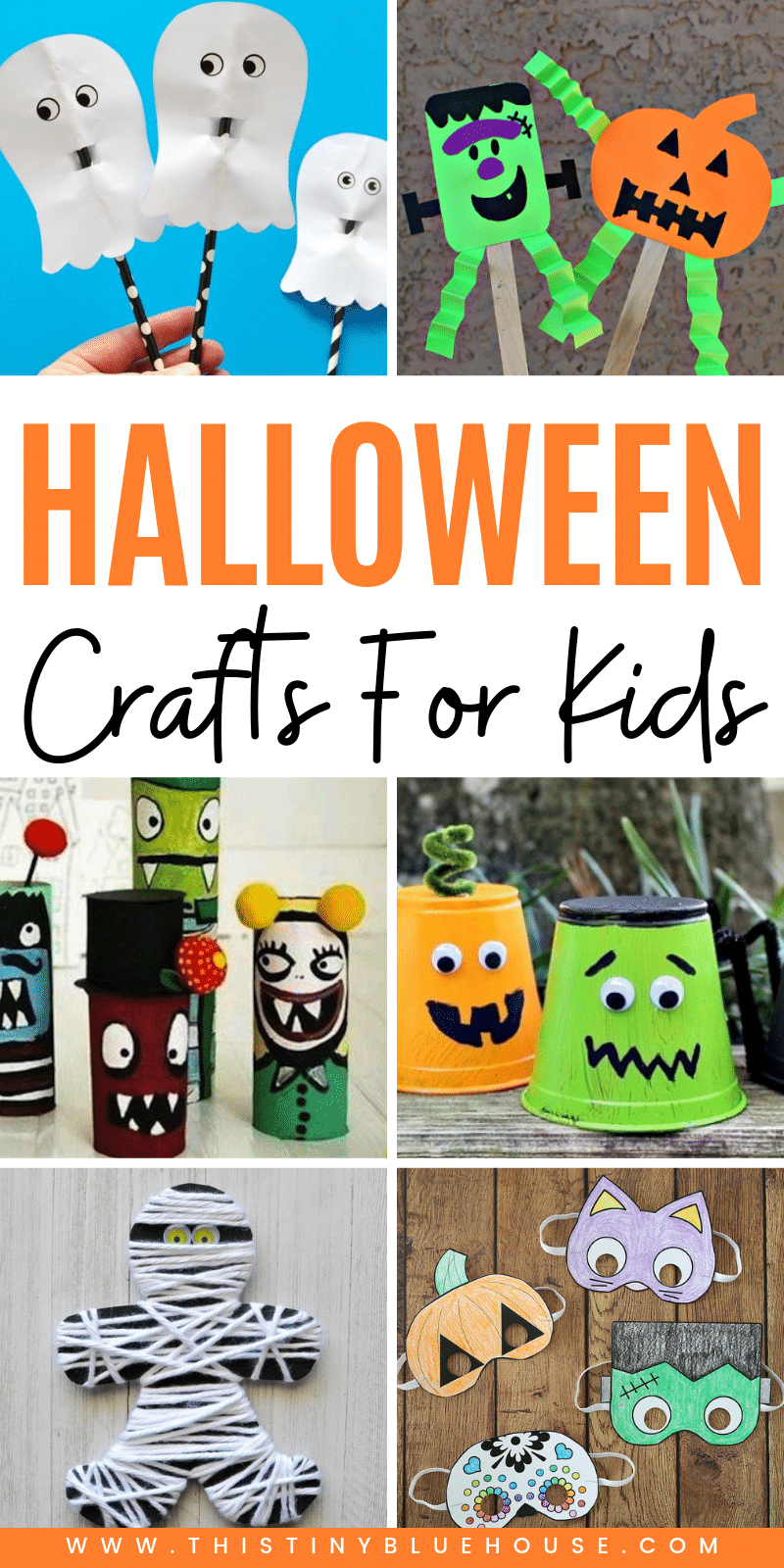 here are over 70 of the best cute and spooky Halloween crafts for kids. From pumpkins to ghosts and witches these Halloween crafts for kids are guaranteed to get your kids excited about Halloween. #halloweencrafts #halloweencraftsfortoddlers #halloweencraftsforkidstomake #halloweencraftsdiy #halloweencraftseasy #halloweencraftskindergarten #halloweencraftsforchildren