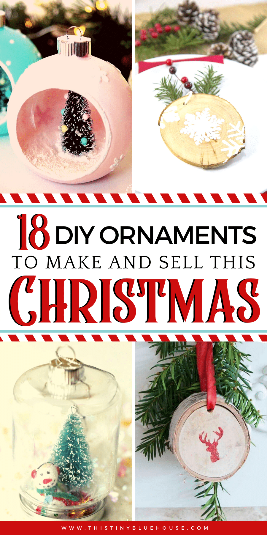 The Holidays are upon us! Here are 18 gorgeous and unique DIY Christmas Ornaments To Make and Sell This Christmas. #DIYChristmasOrnaments #DIYChristmasOrnamentsideas #DIYChristmasOrnamentsToSell #DIYChristmasOrnamentsToSellTutorials
