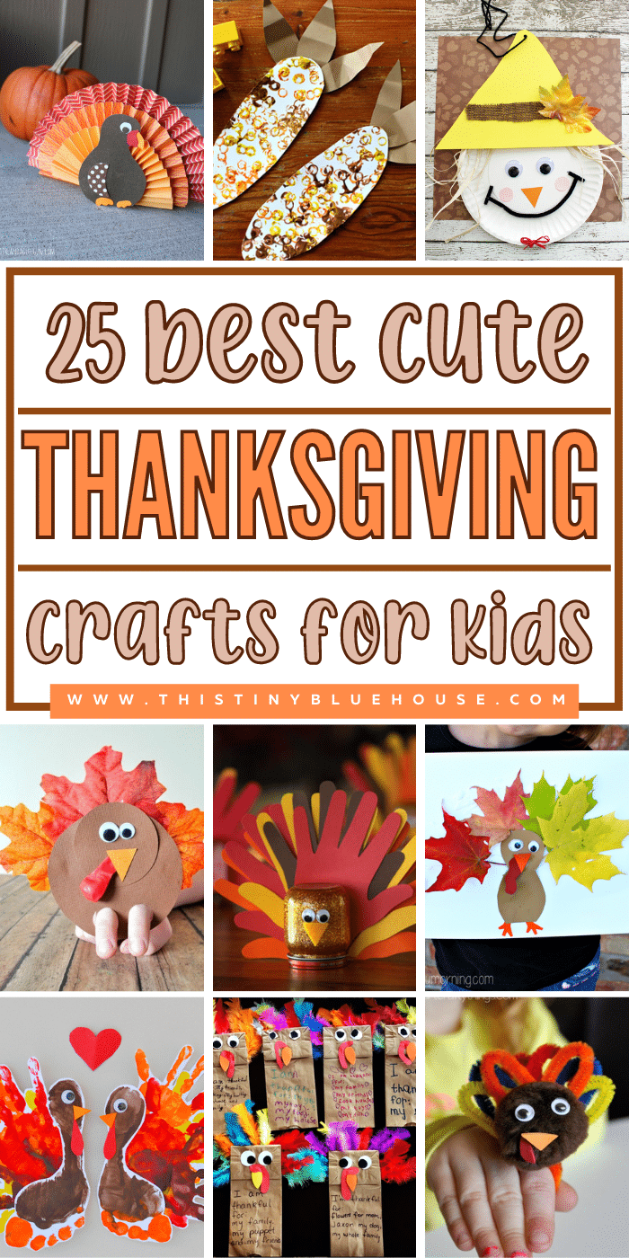 25 Best Cute & Easy Thanksgiving Crafts For Kids