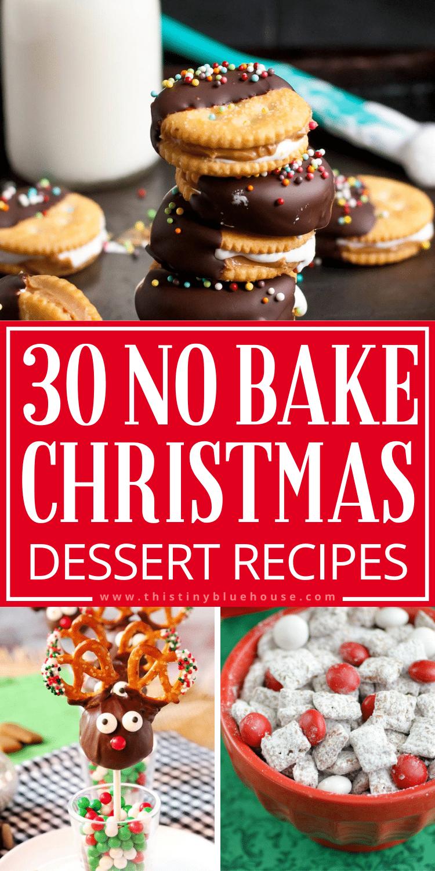 30 Quick and Easy NO BAKE Christmas dessert recipes