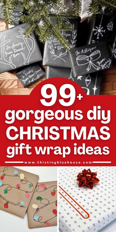 99+ Gorgeous DIY Chrsitmas Gift Wrap Ideas