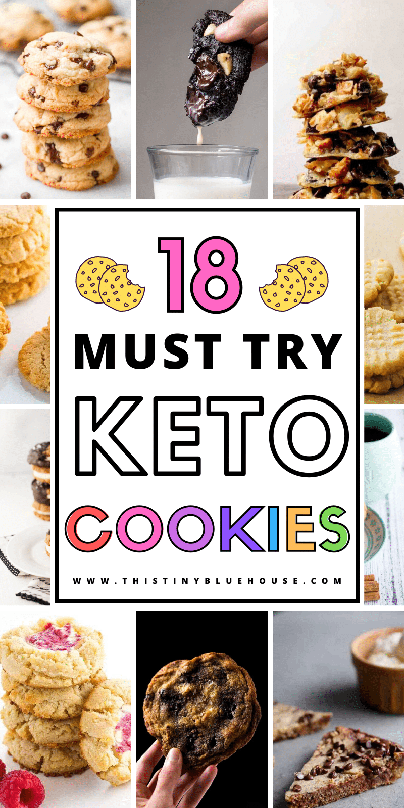 Here are 18 Keto Cookies You Gotta Try. These 18 Keto cookies are delicious, easy and guaranteed to satisfy a craving without falling off your diet. #keto #ketodiet #ketofood #ketosweets #ketocookies #ketosnacks #ketocookieseasy