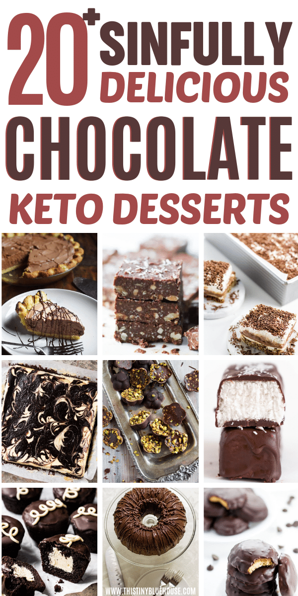 Here are 20+ chocolate Keto dessert recipes that are guaranteed to satisfy your sweet tooth without ruining your diet. These keto dessert recipes are so good you wont even realize that they are diet food. #ketodesserts #ketodessertseasy #ketodessertsrecipes #ketodessertschocolate #ketodessertschocolateeasy #ketodessertschocolatelowcarb #chocolateketodesserts #chocolateketodessertseasy #chocolateketydessertslowcarb #chocolateketodessertsrecipes