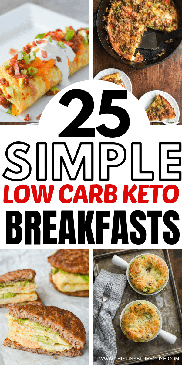 Add some variety to your breakfast routine with these deliciously easy low carb keto breakfasts! They're so good you wont even feel like you're on a diet.#ketobreakfast #ketobreakfastrecipes #ketobreakfastideas