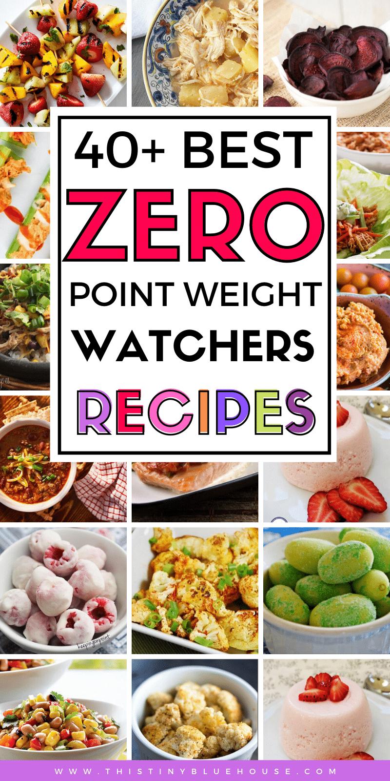 zero point foods on weight watchers diet