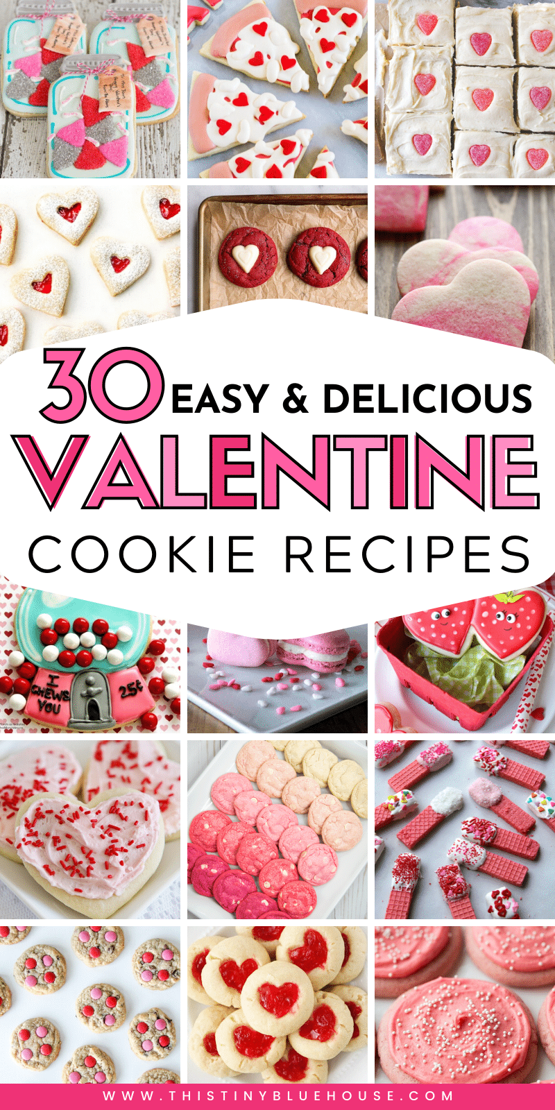 Spoil that special someone with one of these delicious Valentine's Day Cookies. Super simple to make these Valentine's Day cookies are the ultimate edible gift idea. #valentinesdaycookies #easyvalentinesdaycookies #valentinesdaycookiesrecipes