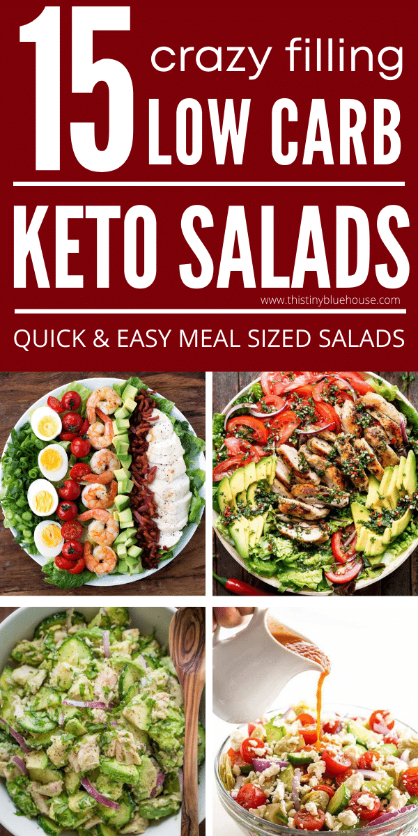 15 Crazy Filling Meal Sized Keto Salads