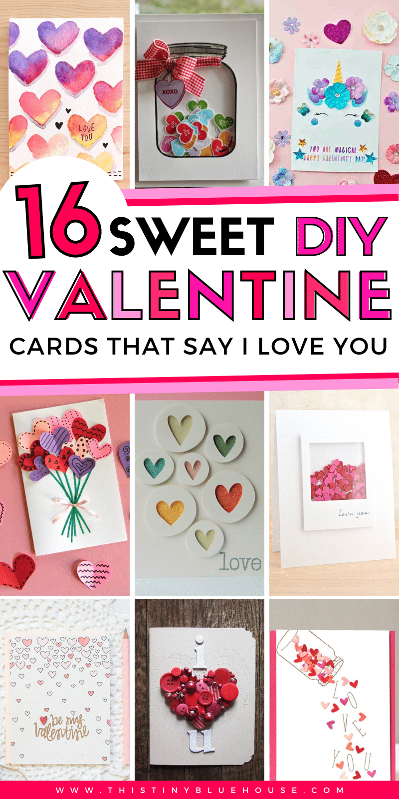 16 Beyond Adorable Diy Valentine S Day Card Ideas This Tiny Blue House