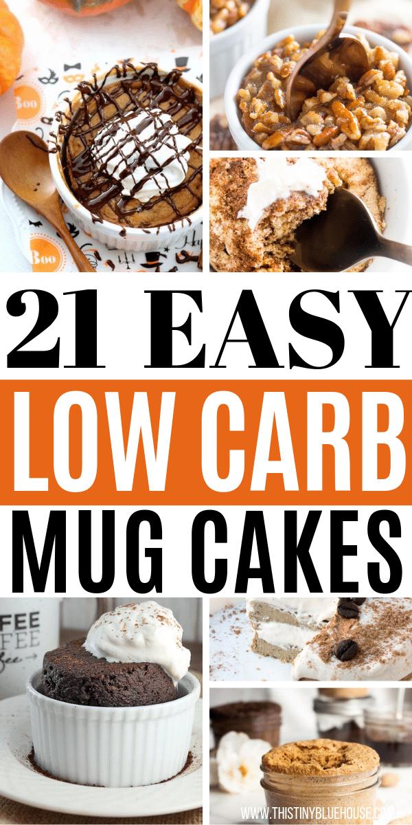 Satisfy your sweet craving by making one of these 21 easy craving buster Keto Mug Cakes. Both easy and delicious these keto compliant treats are guilt free.#ketomugcake #lowcarbmugcake #ketomugcakerecipes #lowcarbmugcakerecipes