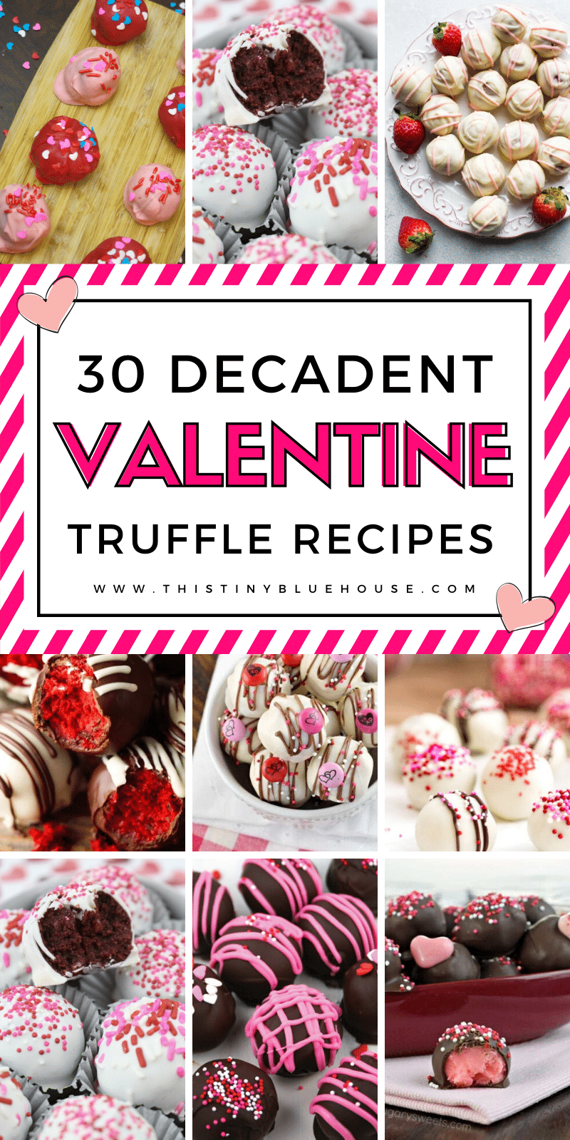 Wow that special someone in your life with one of these insanely decadent and easy truffle recipes that are perfect for Valentine's day! #trufflerecipes #easytrufflerecipes #valentinesdaytruffles