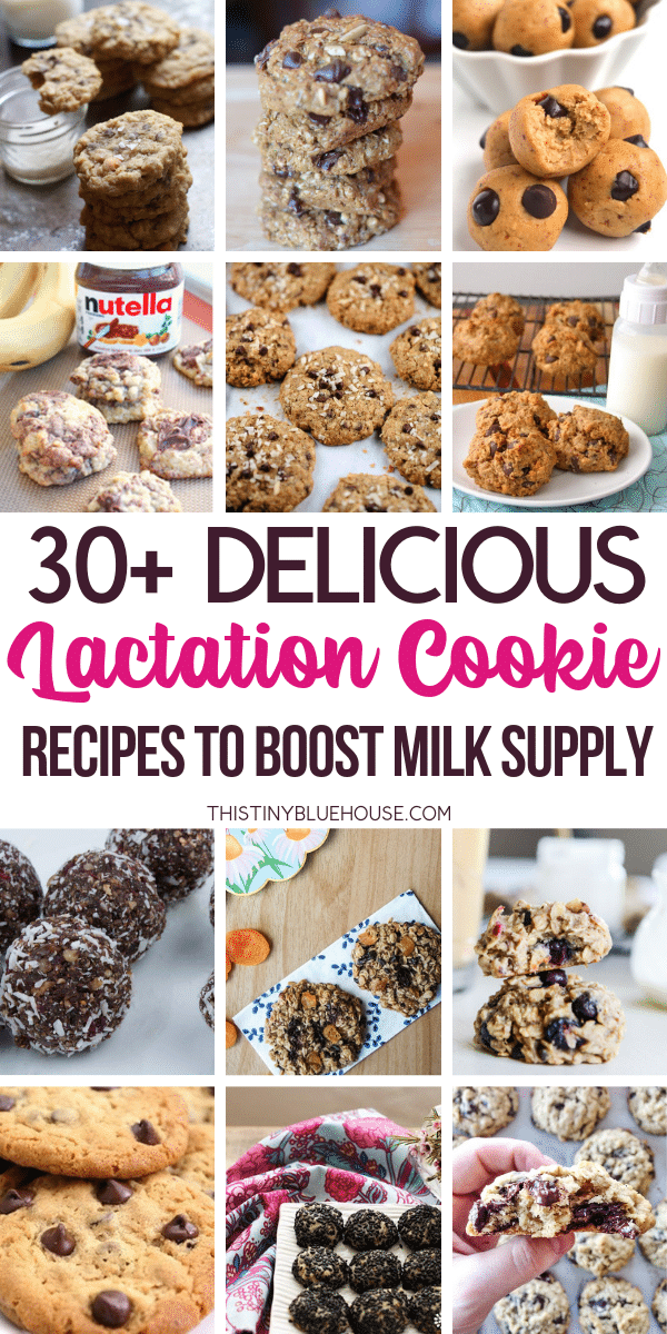 Boost your milk supply with these 30+ milk boosting lactation cookie recipes. Easy to make and delicious, these lactation cookies are a great way to get the milk flowing. #lactationcookies #lactationcookierecipes #easylactationcookies