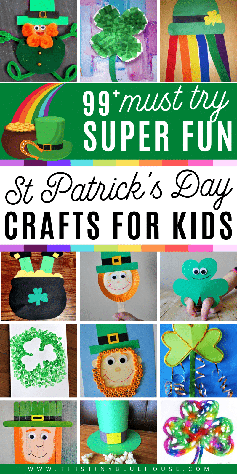 Get the kids excited about celebrating the luck o' the Irish with these fun and easy preschool St. Patricks Day Crafts for kids. With 100 crafts to pick you'll have hours of fun making these crafts with kids of all ages. #stpatricksdaycrafts #easystpatricksdaycrafts #stpaddyscraftsforkids #easystpatricksdaycraftsforkids #stpatricksdaycraftsforpreschoolers