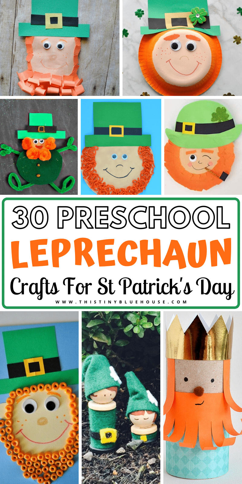 Here are 30 best super cute Leprechaun crafts for St. Patrick's day. These crafts are suitable for kids both young and old and are a perfect way to celebrate St. Patrick's Day. #StPatricksDayCrafts #BestStPatricksDayCrafts #LeprechaunCrafts #StPatricksDayCraftIdeas #StPatricksDayCraftsForToddlers