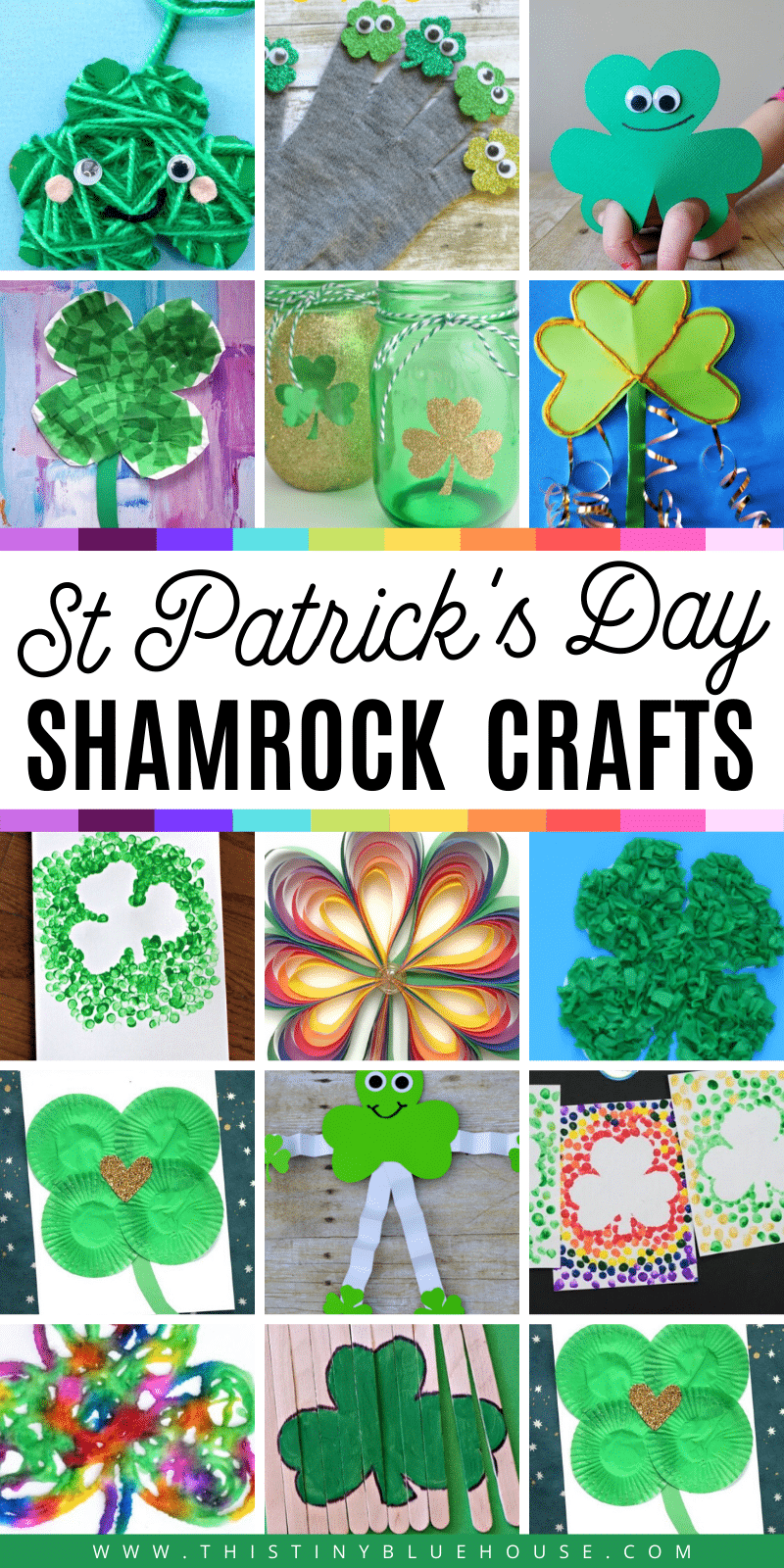 Here are 40 best shamrock crafts that kids love making for St.Patrick's Day. These 40 easy preschool and toddler shamrock crafts are great for even the smallest kids. #stpatricksdaycrafts #stpatricksdaycraftsforkids #craftsforkids #stpaddysdaycraftsforkids #shamrockcrafts #shamrockcraftsofrkids #stpatricksdaycraftsforpreschooler