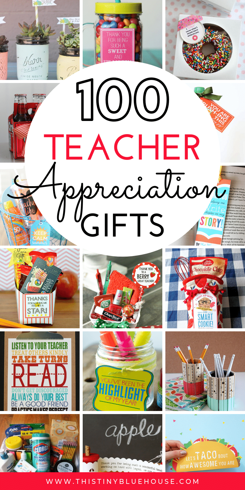 Are you looking for cute teacher appreciation gifts to express your gratitude? Here are 100 of the absolute best cute teacher appreciation gifts. From DIY projects to budget friendly gifts and adorable gifts in jars, you're guaranteed to find the perfect gift for the special teacher in your life. #teachergifts #teacherappreciationgifts #teachergiftsendofyear #teachergiftsdiy #easydiyteachergifts #homemadeteachergifts #uniqueteachergifts