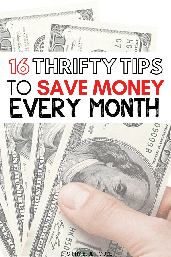 Are you looking to add a few thrifty living tips to your newly frugal lifestyle? Here are 16 clever tips for the newly frugal that will help you save money. We use these money saving strategies in our house and it helps us stay on budget and save hundreds every month. #frugalliving #frugallivingforbeginners #frugallivingtips #frugallivingideas #frugallivinghacks #frugallivingsavingmoney #moneysavinghacks #waystosavemoney #thriftylivingtips #howtobethrifty