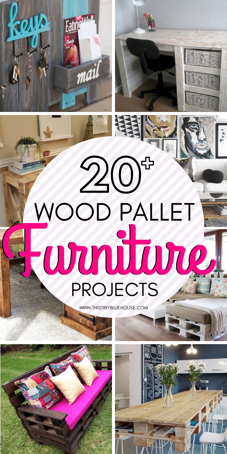 21 Amazing Diy Upcycled Wood Pallet Furniture Ideas This Tiny Blue House