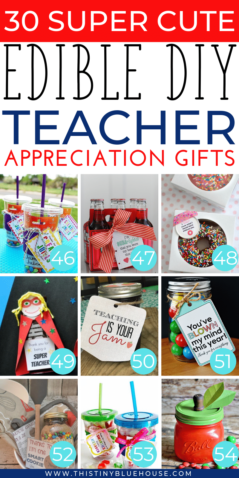 Are you looking for the perfect cute teacher appreciation gift to express your gratitude? Here are the absolute best cute and edible teacher appreciation gifts. #teachergifts #teacherappreciationgifts #teachergiftsendofyear #teachergiftsdiy #easydiyteachergifts #homemadeteachergifts #uniqueteachergifts