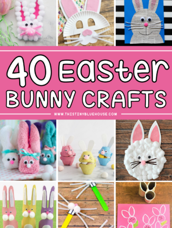 Easy and Adorable Easter Bunny crafts for young children.