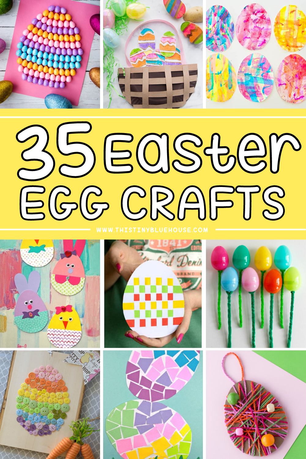 35 Fun & Easy Easter Egg Crafts For Kids