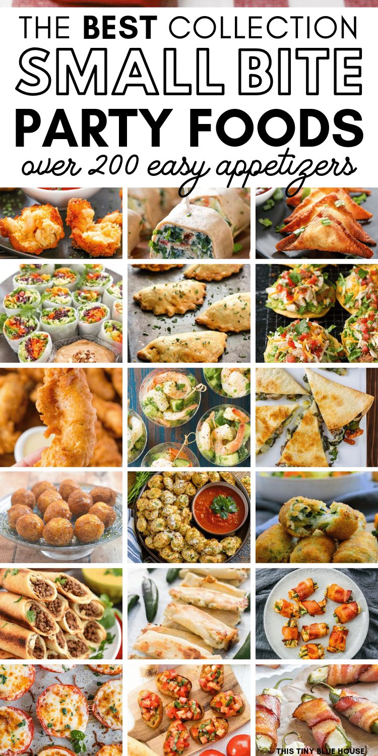 Are you looking for some easy bite sized appetizers for an upcoming event? Here are 200+ easy bite sized appetizers that are great starter for any event. #appetizers #easyappetizers #bitesizedappetizers #bestappetizers #easybitesizedappetizers #fingerfoods #easyfingerfoods
