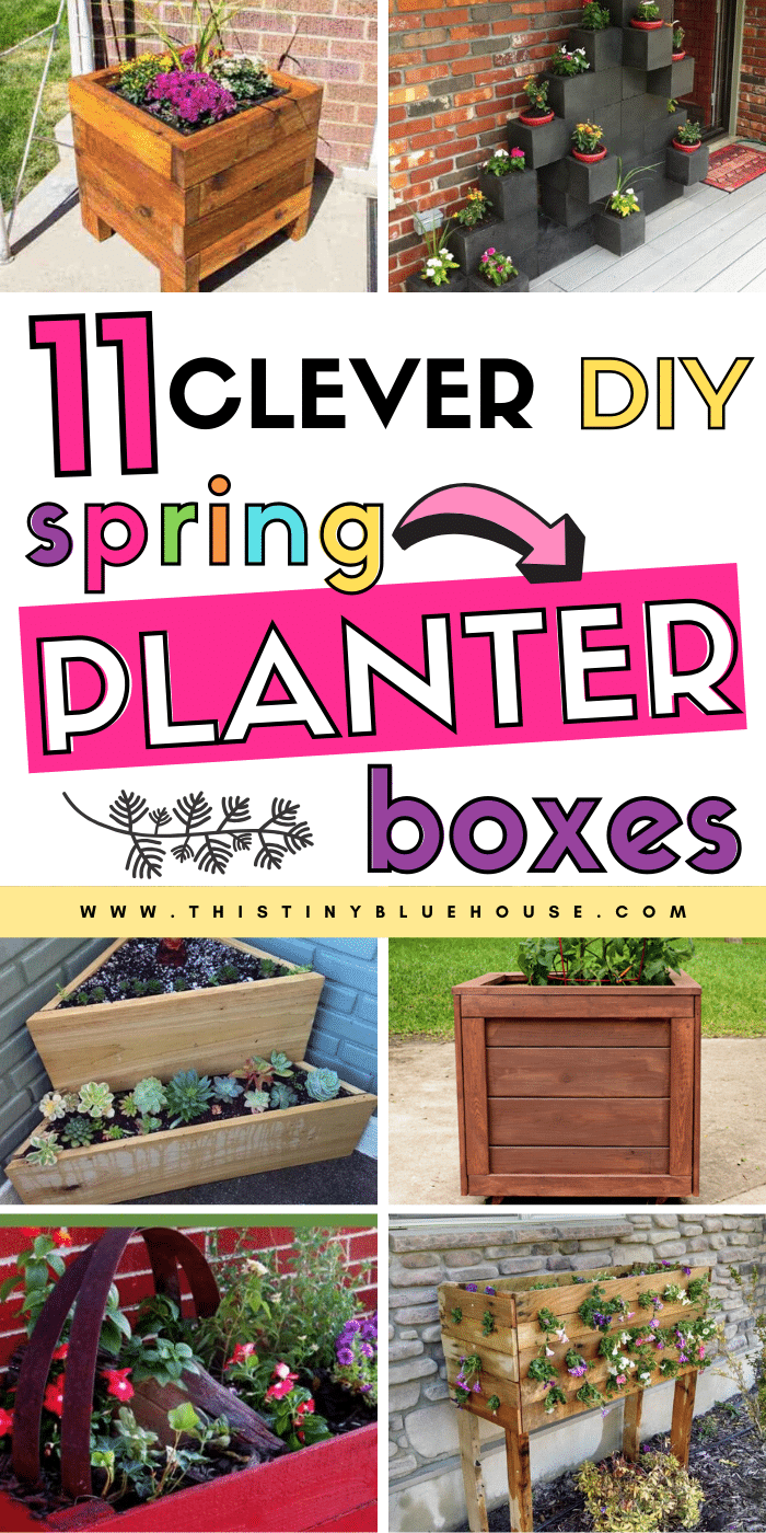Are you looking for gorgeous creative DIY Planter Box ideas to make this spring? Here are 11 seriously easy DIY Planter Box Ideas that are a perfect way to spruce up your outdoor space and plant a variety of flowers or vegetables.