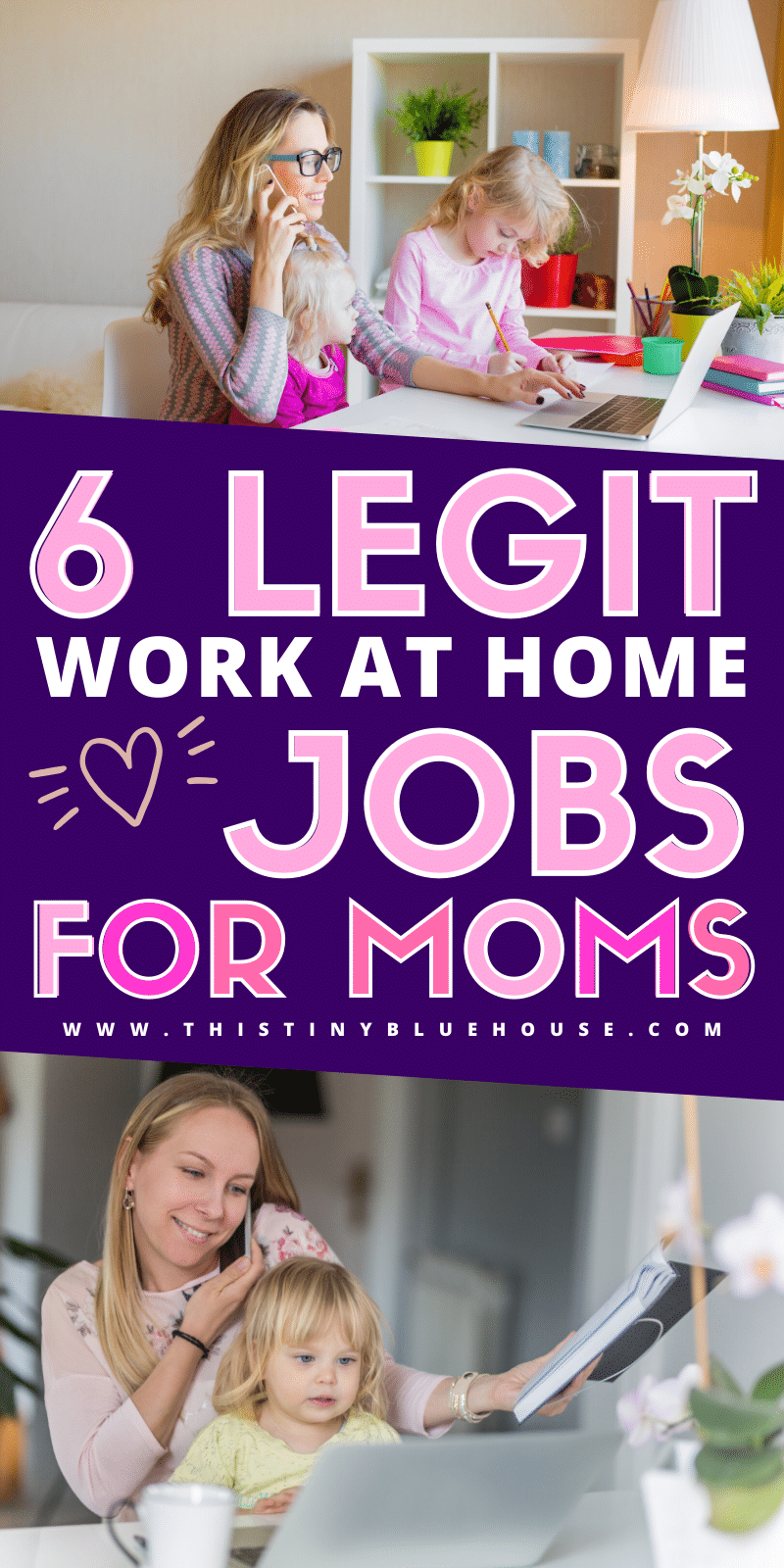 Are you looking to pick up a work at home job while you are stuck at home? Here are 6 legitimate and totally legal ways to start working from home and earning an income without having to ever leave your house. #sidehustles #sidehustlesideas #onlinejobs #legitimateonlinejobs #legalonlinework #onlinejobsfromhome #stayathomejobs #onlinejobsthatactuallymakemoney #waystomakemoneyfromhome #realwaystomakemoneyfromhome