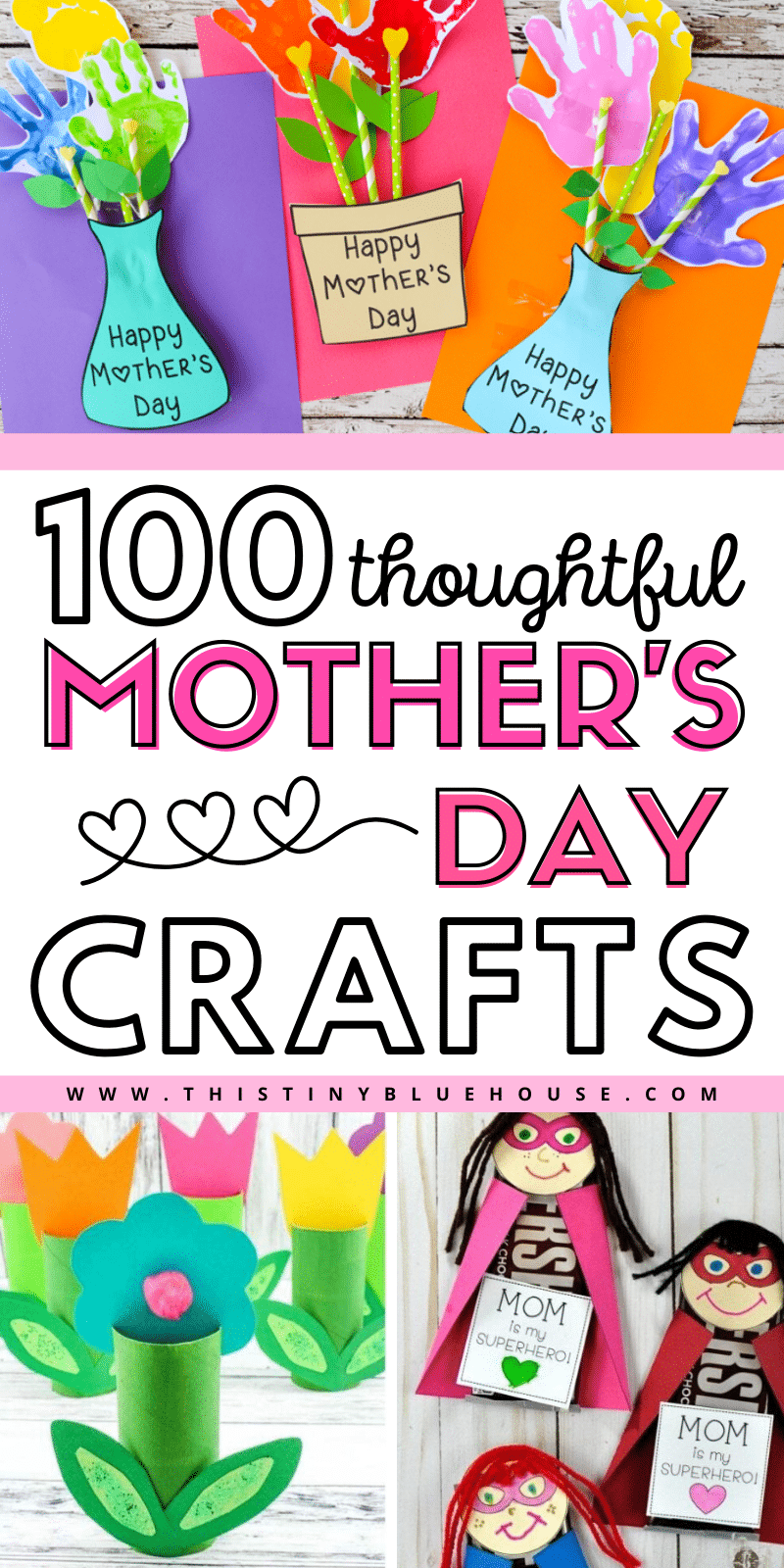 are you looking for the perfect thoughtful and sweet Mother's day gift idea that you can make this year? Here are 100 sweet Mother's day crafts that are perfect for showing mom just how much she means to you. #mothersdaycrafts #mothersdaycraftsforkids #mothersdaycraftsforkidseasy #mothersdaycraftsforkidspreschool #mothersdaycraftsforkidstoddlers #mothersdaycraftspreschool