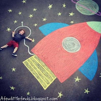 Summer Sidewalk Chalk Art