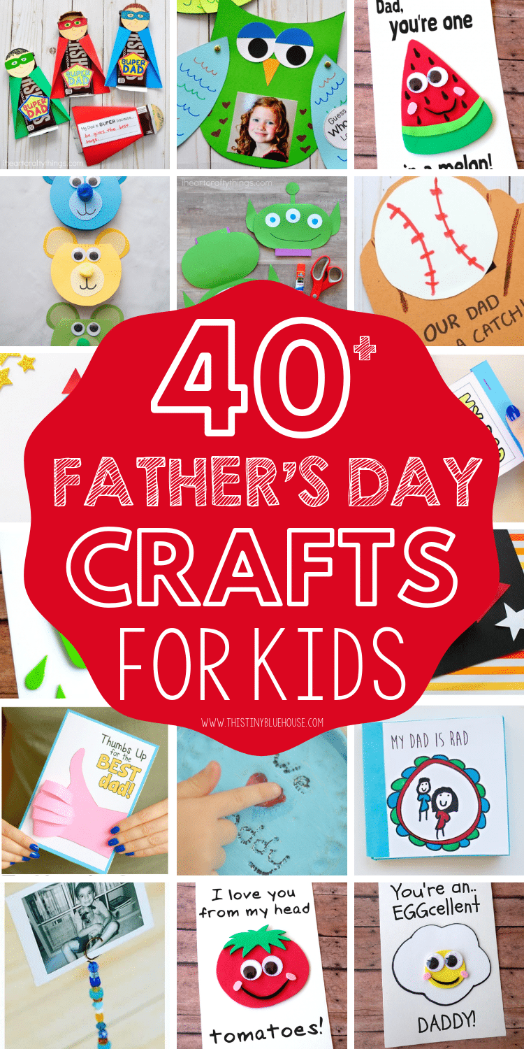Here are 40+ cute Father's Day Crafts that are perfect for showing dad how loved & appreciated he is! These crafts are a great DIY Father's Day gift ideas! #fathersdaycrafts #fathersdaycraftsforkids #craftsforfathersday #DIYfathersdaygiftideas #easycraftsforfathersday #fathersdaycraftsforpreschoolers