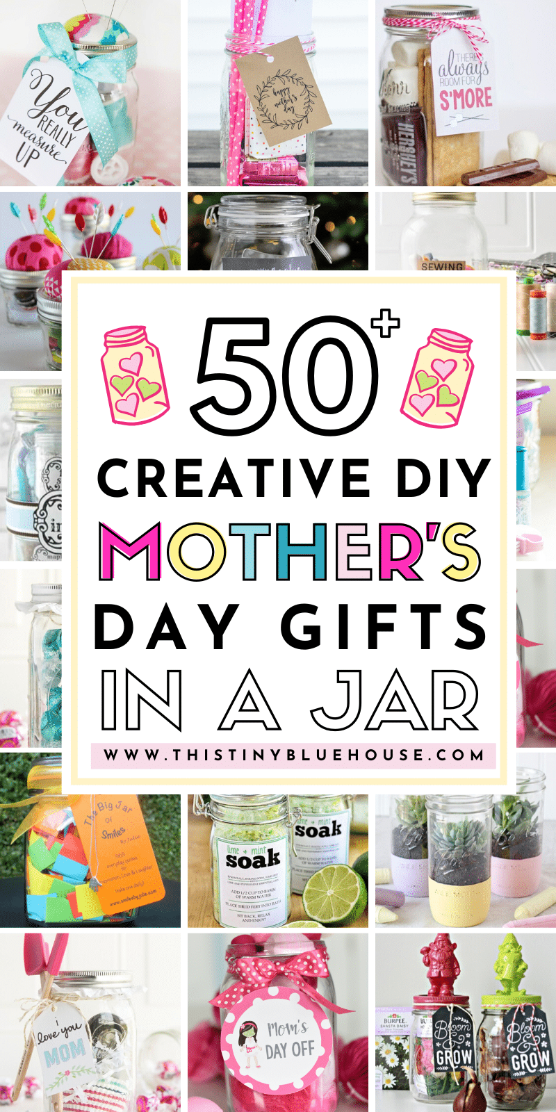 re you looking for the perfect personalized DIY gift for Mom this year? Here are over 50 super thoughtful and creative Mother's Day Gifts In a Jar that are the perfect way to make Mom feel extra special. #mothersdaygifts #mothersdaygiftsdiy #mothersdaygiftsfromkids #homemademothersdaygifts #diymothersdaygifts #giftsinajar #diygiftsinajar #easygiftsinajar #giftsinajarformothersday #giftsinajarformoms