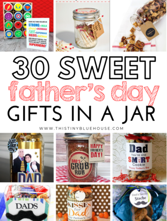 here are 30 thoughtful DIY Father's Day Gifts In A Jar that are not only adorable but the best way to let dad know how much he means to you. #fathersdaygift #diyfathersdaygiftideas #diyfathersdaygiftideasinajar #giftsinajar #fathersdaygiftfromkids #fathersdaygiftdiy